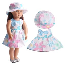 Wholesale Dolls Clothes 18 - Handmade princess dress 18 inches of American girl dolls dolls clothes two suites + hat C216