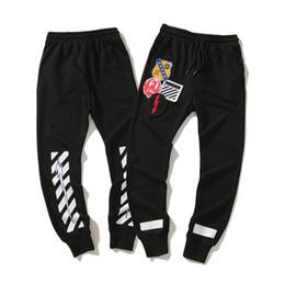 Pantalon de survêtement masculin de marque de luxe 18SS pour hommes Pantalon de survêtement Escalade Sport Wear Streetwear Mode Marée Lâche Hip Hop Coton Mélange ? partir de fabricateur