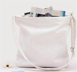 Wholesale Art Blank - Original Canvas Shoulder Bag Literature and Art Model Sling Bag Blank Bag Can do Customize Logo