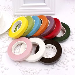 Wholesale Cheap Paper Decorations - cheap 25Meter Paper Garland Tape Artificial Flower Fixed Supplies For Wedding Decoration DIY Wreath Flores Tape