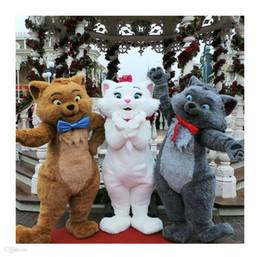 traje de urso tamanho completo Desconto Alta qualidade EVA Material Capacete de Simulação de pelúcia bonito Trajes Da Mascote do gato andando dos desenhos animados Vestuário de Aniversário da festa WS062
