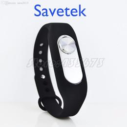 Wholesale Usb Spy Voice Recorder - Wholesale-Savetek 2016 Fashion Wristband Voice Recorder MINI SPY USB PEN 8GB Digital Audio Voice Recorder 70hours Recording