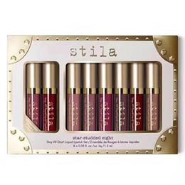 Canada Maquillage en rouge à lèvres Star-Studded Hight Set 8pcs / box Longue durée Creamy Shimmer Liquid Rouge à lèvres de haute qualité ePACKET Offre