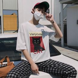 Wholesale fresh clothing - Y2 2018 new Hong Kong style summer XL short-sleeved men's clothing original small fresh loose clothing