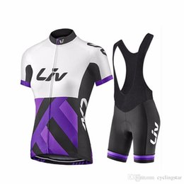 liv cycling jerseys Promo Codes - 2017 Liv Cycling jersey women summer short sleeve shirts bib shorts set cycling clothing bicycle mtb bike maillot ropa ciclismo mujer C2506
