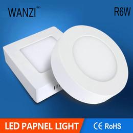 Envío libre 6W 12W LED Panel de luz montado en superficie AC85V-265V Panel de luz LED tipo redondo SMD2835,30PCS / LOT paneles de iluminación desde fabricantes