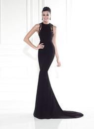 Classique robes de soirée élégantes dentelle noire sans manches formelle robes robe de soirée abito da SERA-longueur EVD109 ? partir de fabricateur