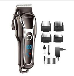 Profesional LCD podadoras de pelo cortadora de pelo eléctrico para hombre recargable pelo cortador corte kit máquina de corte de pelo dos velocidades desde fabricantes