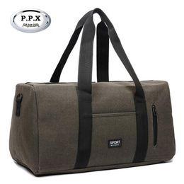 Wholesale Ladies Luggage Bags - New Fashion Men Travel Bags Ladies Canvas Duffle Bag Large Capacity Women Duffel Bag Brand Single Shoulder Luggage Pack A979