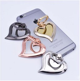 Держатели телефонов онлайн-DHL 4 цвет универсальный 360 градусов зеркало в форме сердца палец кольцо держатель телефона стенд для iPhone 7 6s Samsung для мобильных телефонов
