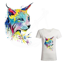 Wholesale Leopard Patches - New pattern Watercolor leopard 28*19cm patches for clothing Diy T-shirt jacket hoodie Grade-A Thermal transfer stickers