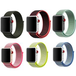 Accesorios reloj de pulsera online-Para iWatch 3/2/1 pulsera banda de reloj de Apple 42 mm 38 mmnylon correa de bucle deportivo muñequera accesorios serie 1 2 3 tejido Enlace minorista