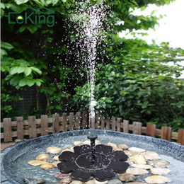 Wholesale Solar Plastic Flowers - Flower -Shaped Solar Power Fountain Birdbath Water Floating Outdoor Pool Garden Park School Family Daily Decoration