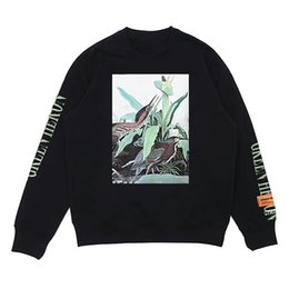 Wholesale Mens Hoodie Sweaters - HERON PRESTON Ulzzang High Quality Hoodies Mens Women Animal Print Letters Cotton Pullover Shirt Loose Sweater Lovers Hip Hop Street Style