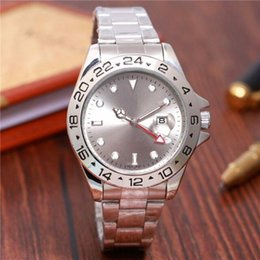Wholesale Needle Clock - 4 needle luxury fashion brand new luxury watch in men and women date steel quartz clock male watches automatic movement
