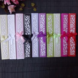 Wholesale bridal shower paper - Personalized Silk Hand Fans with Laser Cut Boxes Free shipping 50pcs Lot Wedding Favors Bridal Shower Souvenir