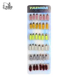 Wholesale Fish Trout - 36PCS Nymph Fly Fishing Flies Set Fly Tying Kit Lure for Coregonus Perch Trout minnow Flies 8# 10# 12# Nymph Assortment Fishing