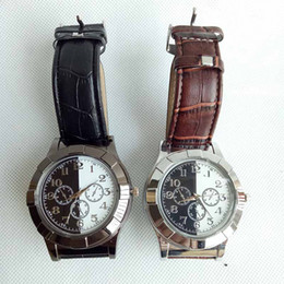 Wholesale Usb Cigar - Cigar USB Lighter Charging sports casual quartz Watches wristwatches Cigarette Smoking watch lighter With Gift Box Tools Accessories