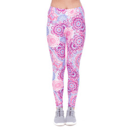 d24506f047 Women Leggings Retro Ornament Violet 3D Print Girl Skinny Stretchy Yoga  Wear Pants Gym Lady Workout Tight Capris Soft Trousers (YX52104) girls  skinny yoga ...