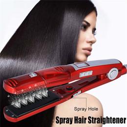 Fer à lisser rapide électrique en Ligne-Fer à défriser à cheveux à vapeur en céramique électrique professionnel brosse fer plat chauffage rapide cheveux secs / mouillés chauffage rapide