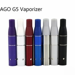 Wholesale E Cigarette Battery Lcd - AGO G5 Vaporizer E-Cigarettes Dry Herb Ago G5 Atomizer 510 Thread Clearomizer Ecigs Vape Match LCD Display Battery AGo G5 Factory Price