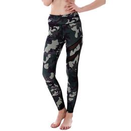 Wholesale Women Plus Size Camouflage Pants - Pottis Women Leggings High Elastic Skinny Camouflage Legging Slimming Women Leisure Mesh Dispatch Yoga Pants Plus Size