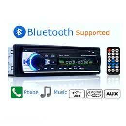 Bluetooth auto mp3 online-Auto radio 12 V Radio de coche Bluetooth 1 din Estéreo MP3 Reproductor multimedia Tablero decodificador Módulo de audio TF USB Radio Automóvil