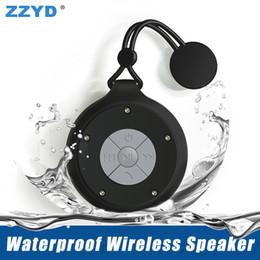 Wholesale Mini Speaker Smart Phone - ZZYD Q50 Waterproof Wireless Speaker Portable Mini Bluetooth Speakers Handsfree Microphone Subwoofer Bathroom Music Player for Smart Phones