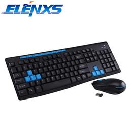 Стандартные мыши онлайн-ELENXS Standard 112-Key Gaming Wireless Keyboard & Mouse Black Keyboard Mouse Combos for Laptops Desktops PC