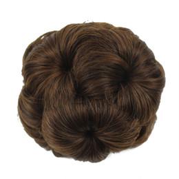 2019 großhandel synthetischen haar brötchen zubehör Synthetische Haarspange in Chignon 9 Blumen Donut Roller Clip in gefälschten Haaren gelockt Chignon Braut Haarknoten Freies Verschiffen
