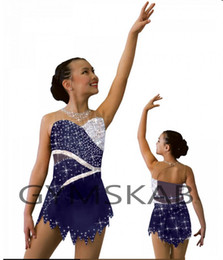 eiskunstlaufkleider Rabatt 2018 Graceful Eiskunstlaufkleid Angepasstes Eislaufkleid für Mädchen Ärmelloses Gymnastik-Kostüm 8892-1A