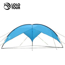 Wholesale camping gazebo tent - 5-8 People Portable Large Beach Camping Tent Waterproof Canopy Sun Shelter Outdoor Awning Party Roof Top Hiking Family Gazebo
