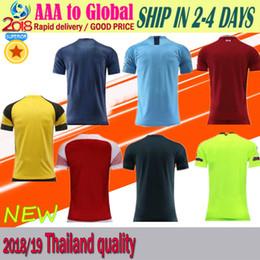 Jerseys al por mayor del balompié online-18-19 jersey de la camiseta superior Tailandia VIP último fútbol jersey de fútbol al por mayor