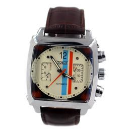Wholesale Automatic Watch Jaragar - Wholesale-JARAGAR Mens Automatic Mechanical Watch Men Famous Brand Brown Leather Strap Casual Square Wristwatch Male Clock Relojes Hombre