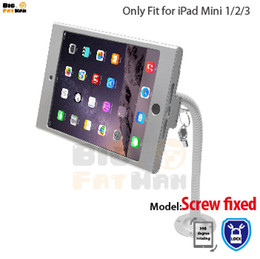 Wholesale Tablet Security Display Stand - tablet pc display flexible gooseneck wall mount holder stand for iPad mini1 2 3 security safe locked metal box support arm