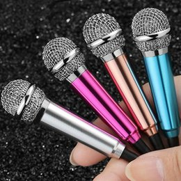 2019 оптовые беспроводные микрофоны для караоке MINI Jack 3.5 mm Studio Lavalier профессиональный микрофон Handheld Mic для мобильного телефона компьютер для iPhone Samsung караоке горячая