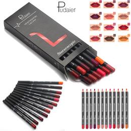 Canada Maquillage Pudaier Ensemble de lèvres pour les lèvres, 12 couleurs Kit de crayons à lèvres imperméable Lipliner Longue durée pour le contour des lèvres Nude Contour Beauty tool Offre