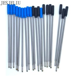 Canada 10pcs de haute qualité stylo à bille stylo encre recharges costume noir et bleu utile école de bureau cadeau stylo cadeau Offre