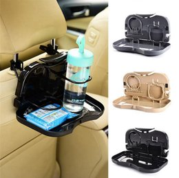 Wholesale Dining Car - Folding Auto Car Back Seat Table Drink Food Cup Tray Holder Stand Desk Car Dining Table Storage Rack OOA4268