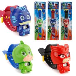 Wholesale bracelet anime - High Quality PJ Party Mask Watch Toy Cartoon Anime PJ Connor Greg Amaya Catboy Montre - bracelet Jouet Birthday Toy Gift