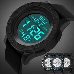 Wholesale Led Digital Countdown Timer - NEW Fashion Men's LED Digital Date Countdown Timer Sport Quartz Wrist Watch 2017 JUL 17
