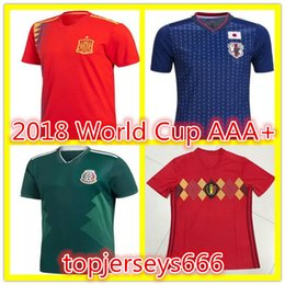 Wholesale Japan 18 - Best quality 2018 World Cup soccer Jersey FR MBAPPE 18 19 Argentina Spain Coloimbia Mexico Sweden Belgium Japan World Cup Football Shirt