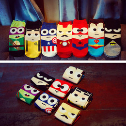 Wholesale Female Superheroes - cute Cartoon print 3D Superheroes Winter ankle Socks Women Female Novelty funny Happy Character Pattern cotton Sock sokken