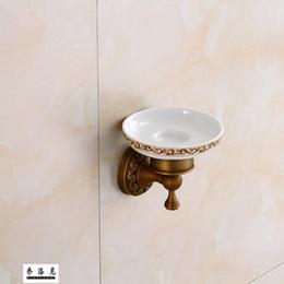 Piatti di sapone antichi online-Piatto antico del pendente dell'hardware del bagno della scatola di sapone della rete del sapone antico del rame di stile europeo
