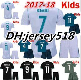 Wholesale Ramos Shirts - 17 18 Real Madrid kids soccer jersey kits child jerseys kits 2017 RONALDO Asensio SERGIO MODRIC RAMOS MARCELO BALE ISCO football shirts
