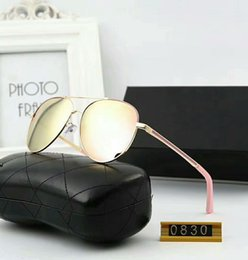 Hohe Qualität polarisierte Linse Pilot cc Mode Sonnenbrillen für Männer und Frauen Marke Designer Vintage Sport Sonnenbrille # 0830 Original Box + Taschen von Fabrikanten