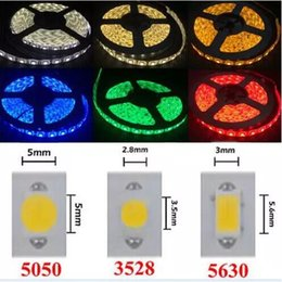 Wholesale Blue Wired Ribbon - High Birght 5M 5050 3528 Led Strips Light Warm Pure White Red Green RGB Flexible 5M Roll 300 Leds 12V outdoor Ribbon