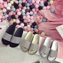 Rabatt Silberne Strass Flache Schuhe 2018 Silberne Flache