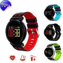Wholesale Ip68 Mobile Phone - 2018 Smart Watch K2 Men Sport Pedometer Blood Pressure Heart Rate Bluetooth Waterproof IP68 Smart Bracelet Mobile Phone Reminder