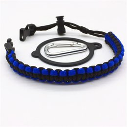 Wholesale outdoor cords - Outdoor Sports Drinkware Handles With Metal Buckle Parachute Cord Handle Convenient Eco Friendly Water Bottle Carrier Rope Holder 5ss B